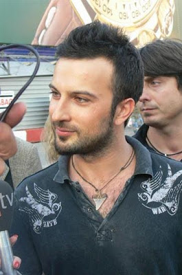 Tarkan being interviewed by Ilke Gurman in Moscow, Russia, June 2006