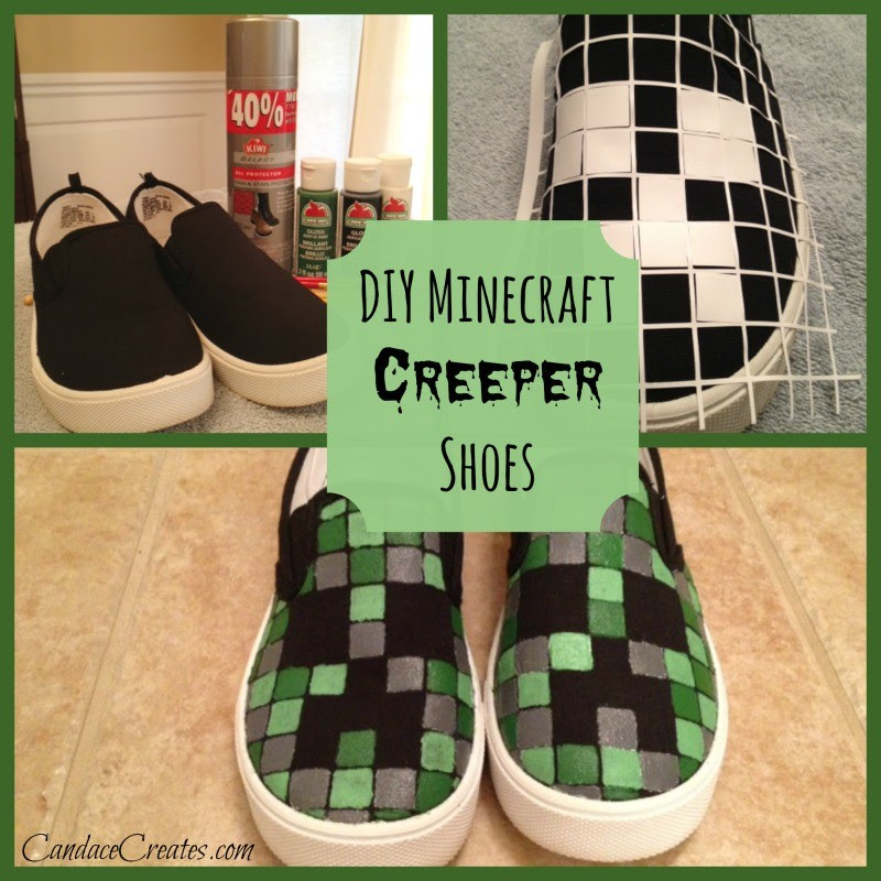 DIY Minecraft Creeper Shoes