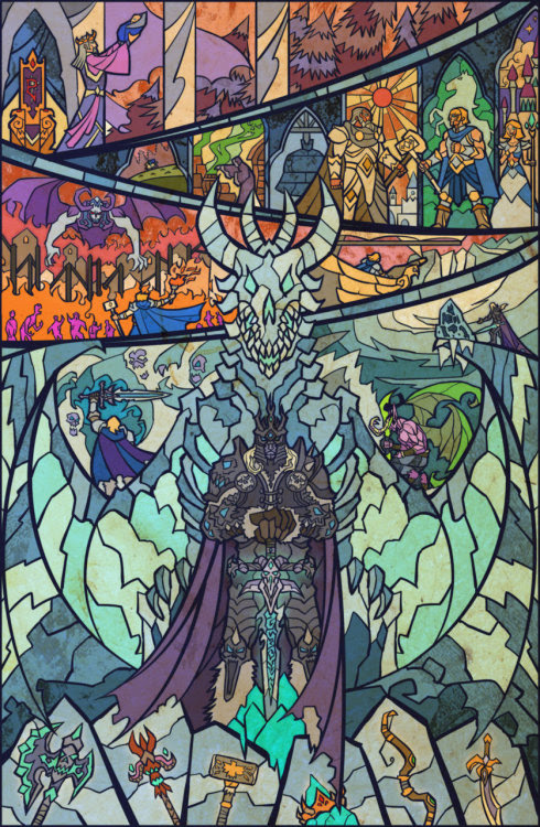svalts:  The Fall Of Arthas // by Jian Guo Excellent World of Warcraft print available at deviantART