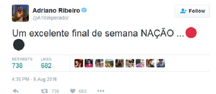 adriano twitter flamengo (Foto: Reprodução/Twitter)