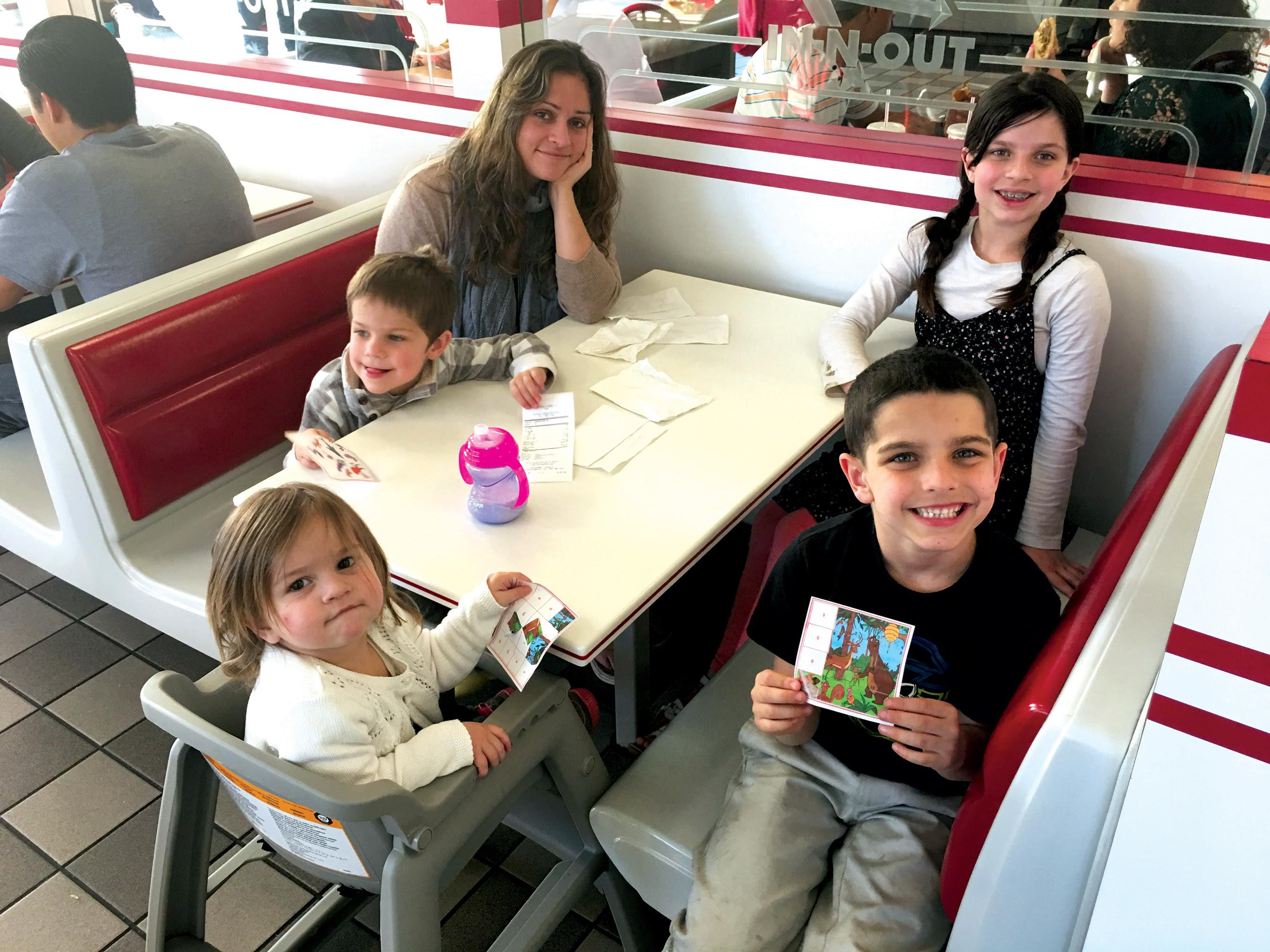 Marissa Nichols e suas crianças