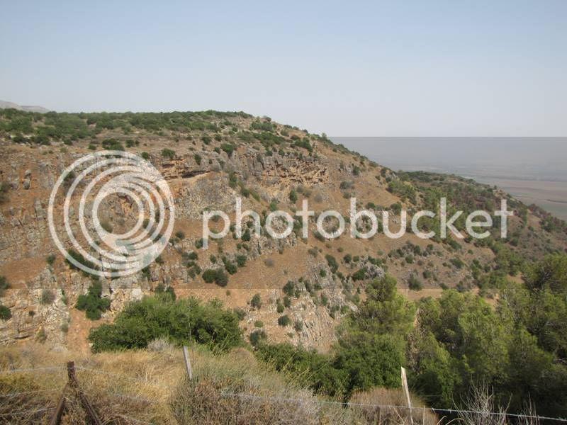 תצפית על נחל קדש מאיזור מצודת כח