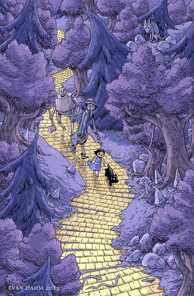 These Stunning Illustrations Restore Awe And Wonder To The Wizard Of Oz