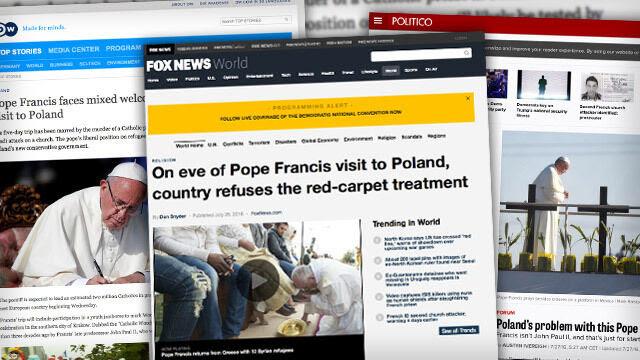 """""""Przyjrzyjcie się twarzom rządowych oficjeli i biskupów"""". Zagranica o wizycie papieża"""