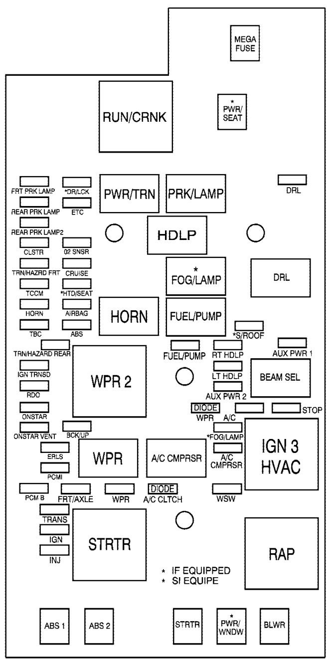 1999 Kenworth W900 Fuse Box Diagram