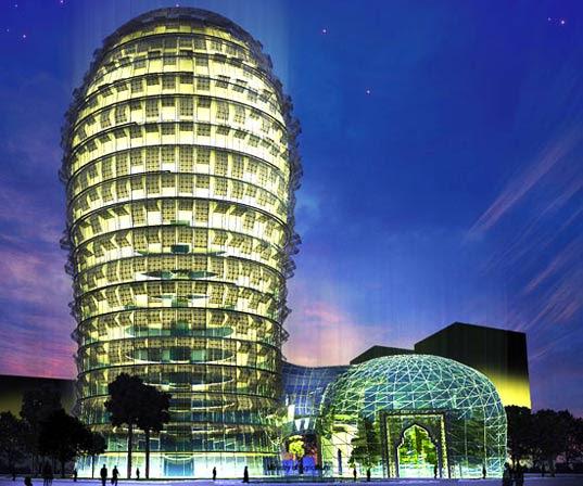 Qatar Sprouts a Towering Cactus Skyscraper   Inhabitat ...