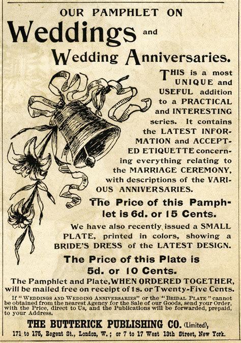 Vintage Wedding Magazine Ad and Clip Art ~ Free Digital
