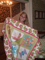 Jessie with her quilt