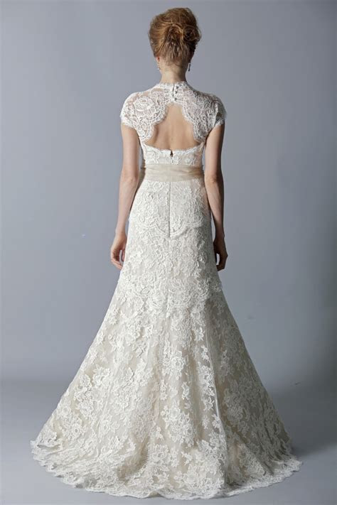 Picture Of Charming Keyhole Back Wedding Dresses