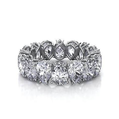 Love the Pear shaped diamond eternity band   Things for