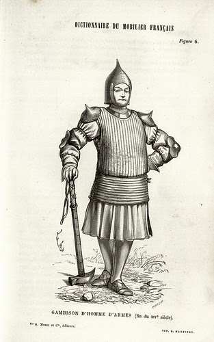 Soldier wearing gambison