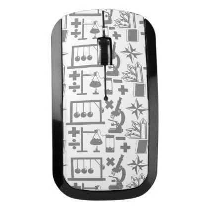 Science Biology Physics Geography Math Pattern Wireless Mouse