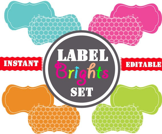 Printable Labels INSTANT and EDITABLE by TidyLadyPrintables
