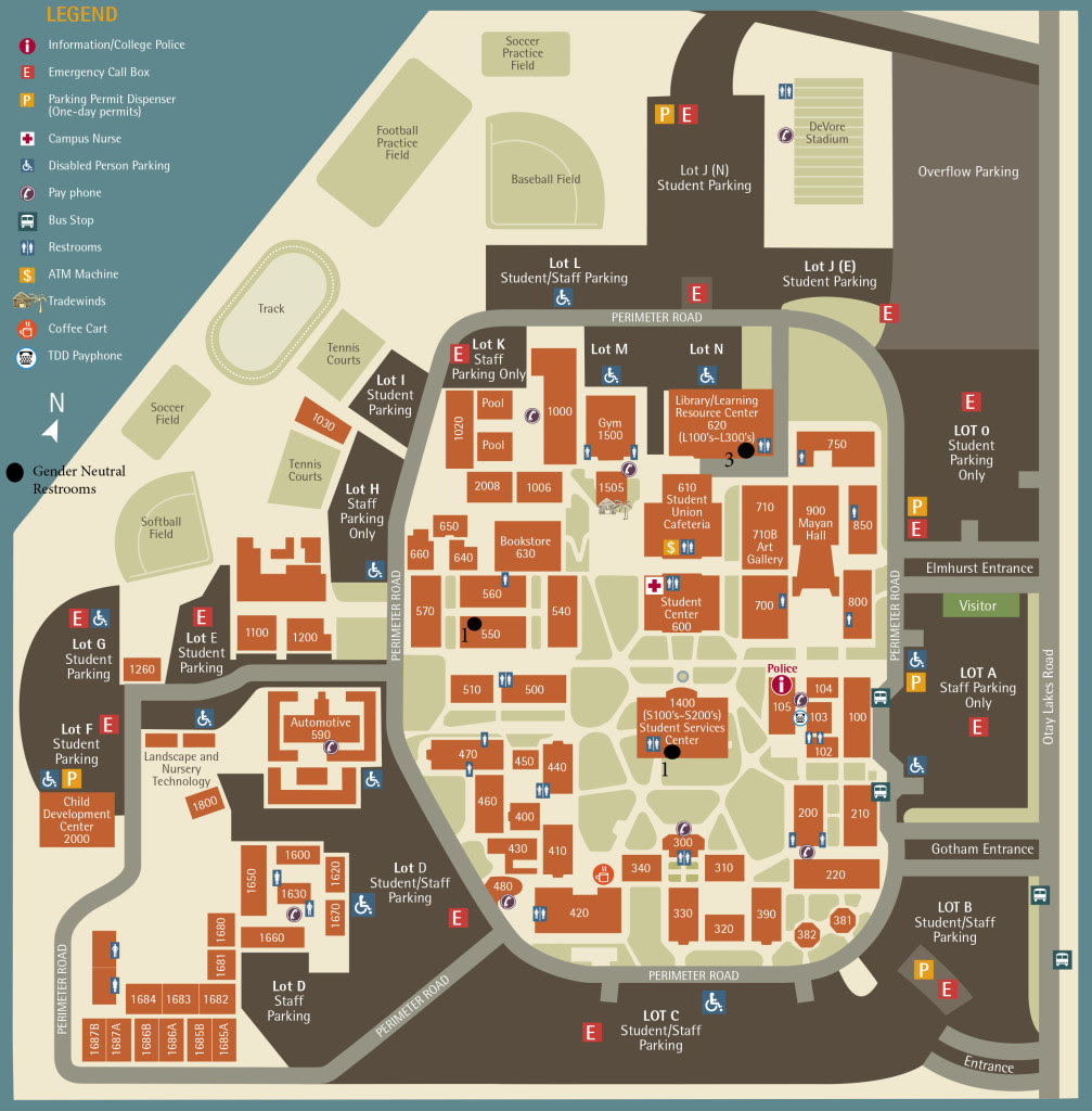 Southwestern College Campus Map Swc Campus Map | World Map Gray
