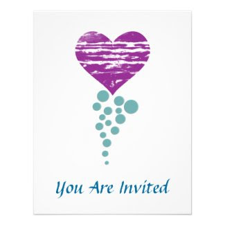 Heart and Circles Shower Party Invitation Design