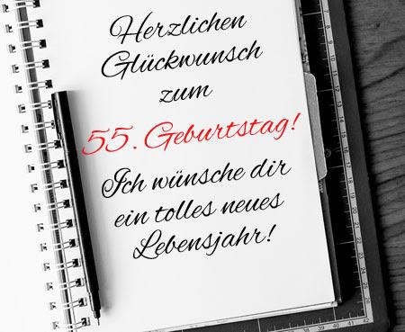 55 Geburtstag Bilder Und Wünsche