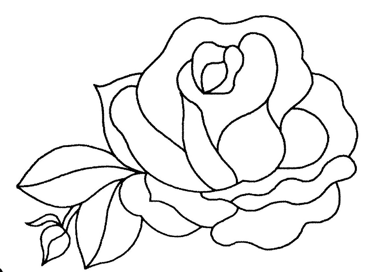 Coloriage de rose