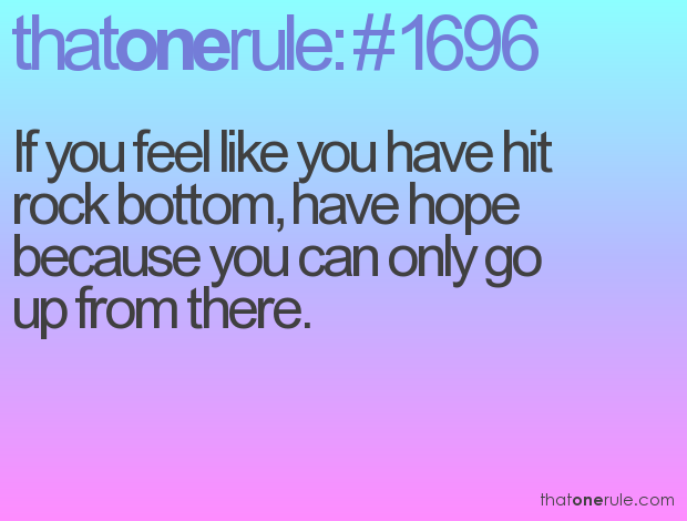 Quotes About Hitting The Bottom 42 Quotes
