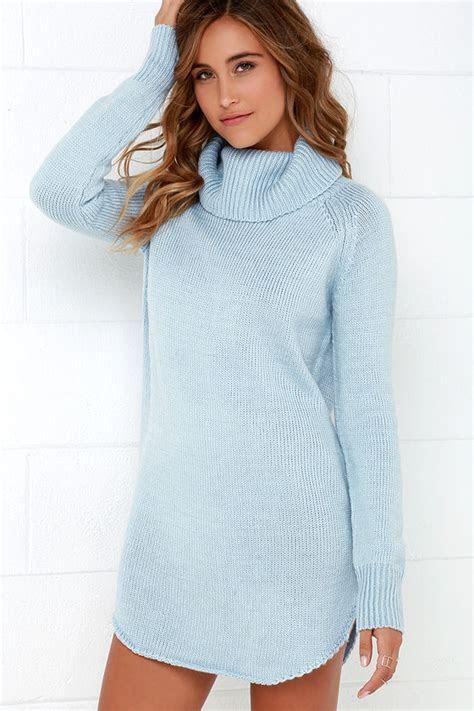 Light Blue Dress   Sweater Dress   Long Sleeve Dress   $66.00