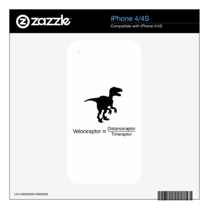 velociraptor funny science decals for iPhone 4
