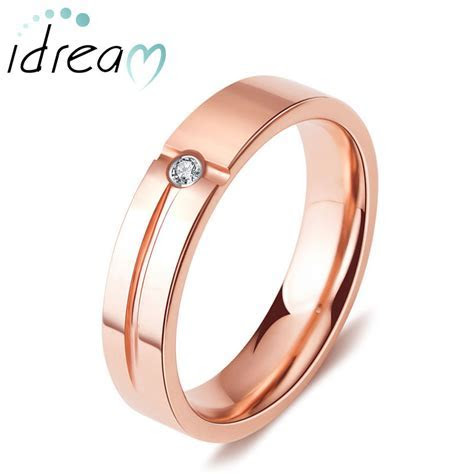 Rose Gold Plated Tungsten Wedding Band, Tungsten Carbide