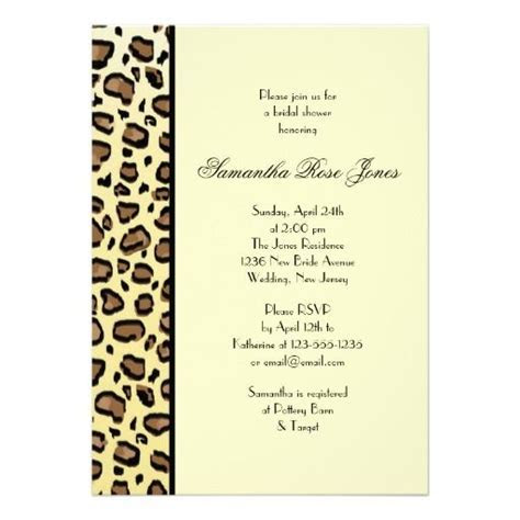 208 best images about Animal Print Wedding Invitations on