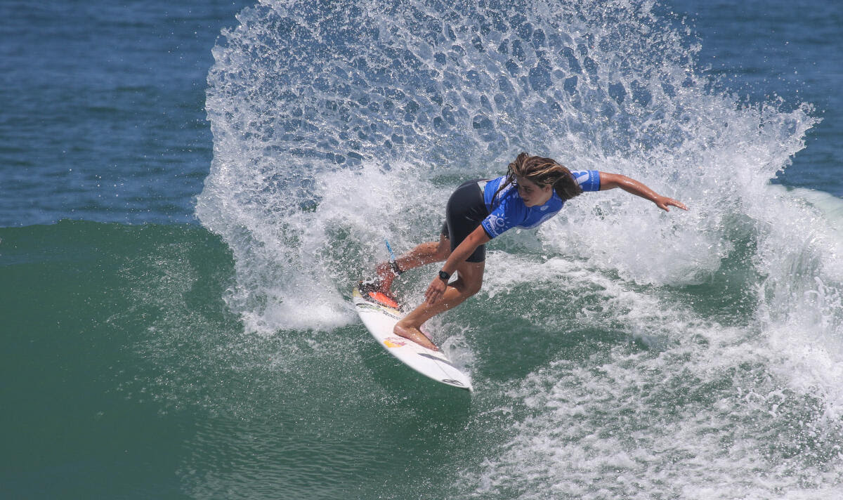 Caroline Marks (USA) winning the Los Cabos Open of Surf QS 6,000 Final.