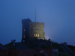 Signal Hill - Cabot Tower in the fog