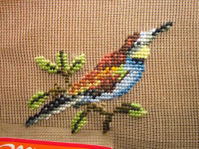 vintage needlepoint - European Bee-Eater