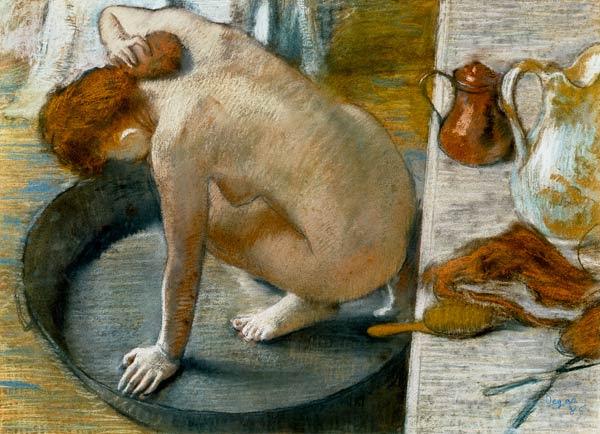 Edgar Degas - Woman when washing