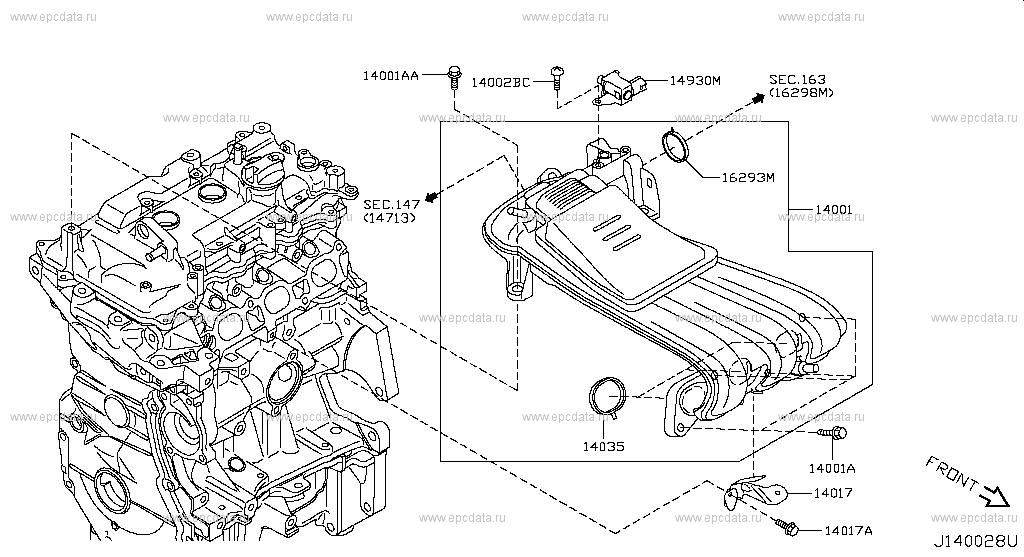 140 Manifold For Micra K13k Nissan Micra Genuine Parts