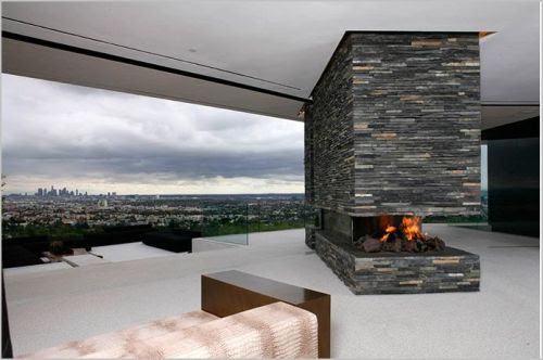 fireplace with a view