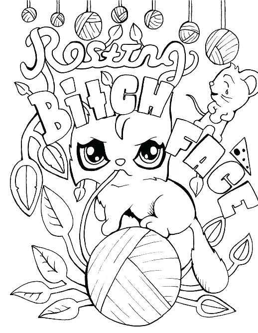 Free Printable Coloring Pages For Adults Swear Words - Coloring And Drawing