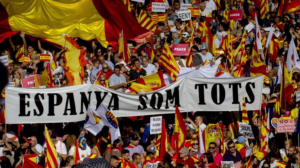 SCC llama a movilizarse contra la independencia este domingo en Barcelona