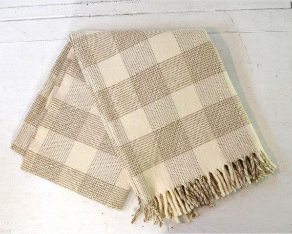 Vintage Fairbo Wool Lap Blanket by Fairbault by AnytimeVintage, $42.00