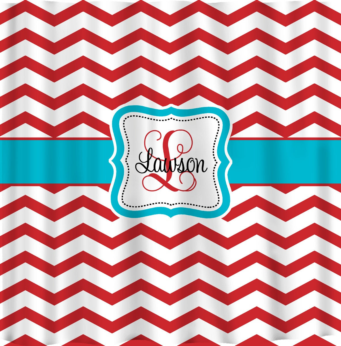 red and teal shower curtain. Personalized Shower Curtains Red and White Chevron by redbeauty And Curtain  Interior Home Design Decorating