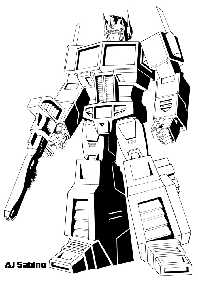 Transformers Optimus Prime Drawing At Getdrawingscom Free For