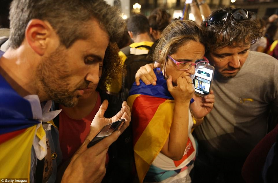 """Mr Puigdemont called Mr Rajoy's move the """"the worst attack"""" on Catalan people and institutions since General Francisco Franco abolished Catalonia's regional government in 1939"""
