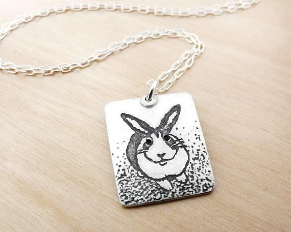 Rabbit necklace - silver - dutch bunny