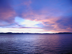 summer sunset on lake tahoe