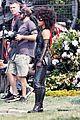 zazie beetz films her own stunts on deadpool 2 set 02