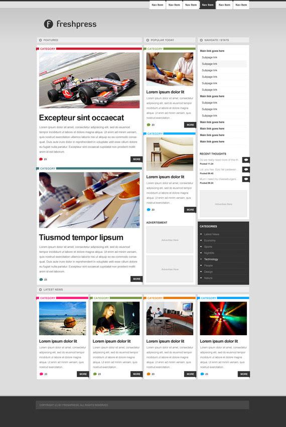 Freshpress-inspiration-wordpress-blog-designs
