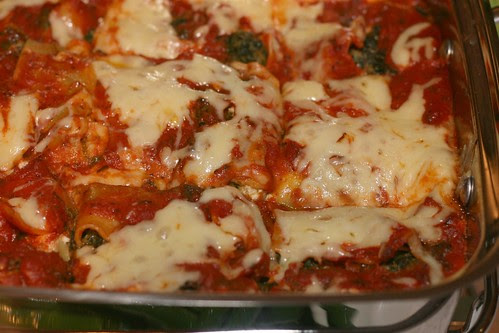 Super-Fast Spinach, Pesto and Cheese Lasagna (Bon Appetit recipe)