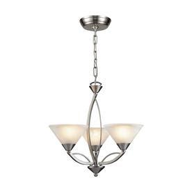 Westmore Lighting Elysburg 3-Light Satin Nickel Chandelier