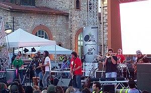 Greek ska band Locomondo performing live on Wo...