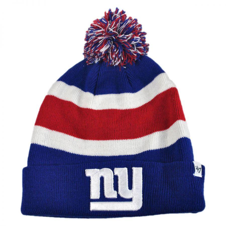 47 Brand New York Giants NFL Breakaway Knit Beanie Hat NFL Football Caps