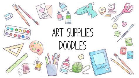 art supplies doodles cute doodles watercolor ideas