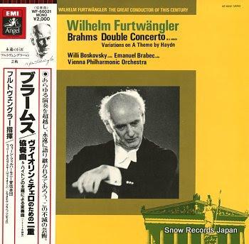 FURTWANGLER, WILHELM brahms; double concerto in a minor