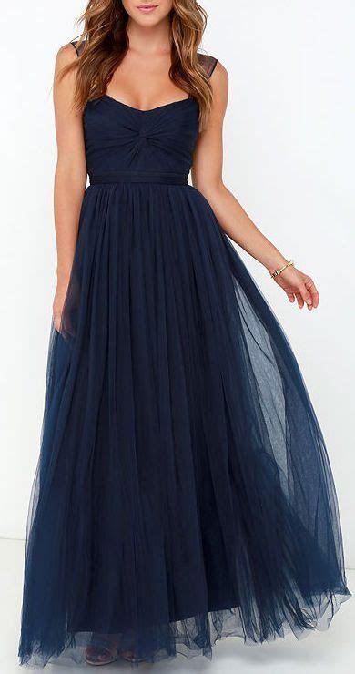 Garden Tulle Navy Blue Maxi Dress in 2019   Hart Martin