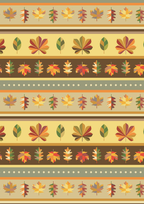 Autumn leaf stripe scrapbook paper